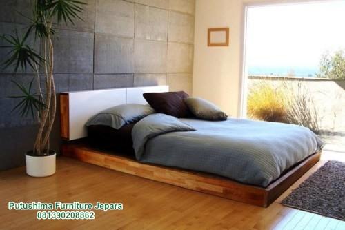 Tempat Tidur Jati Lesehan Lantai