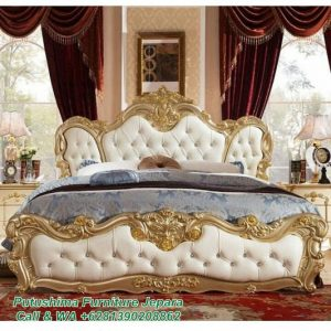 Tempat Tidur Mewah Ukiran Gold