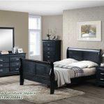 Set Tempat Tidur Minimalis Model Hitam