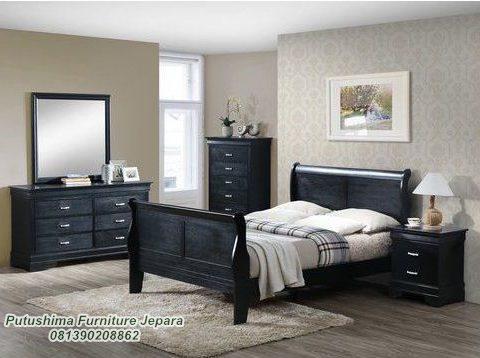 Jual Set Tempat Tidur Minimalis Model Hitam