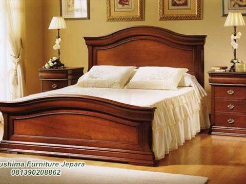 Jual Tempat Tidur Jati Minimalis Klasik