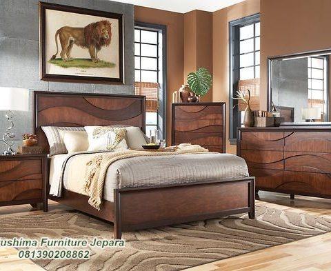 Jual Set Tempat Tidur Jati Minimalis Modern