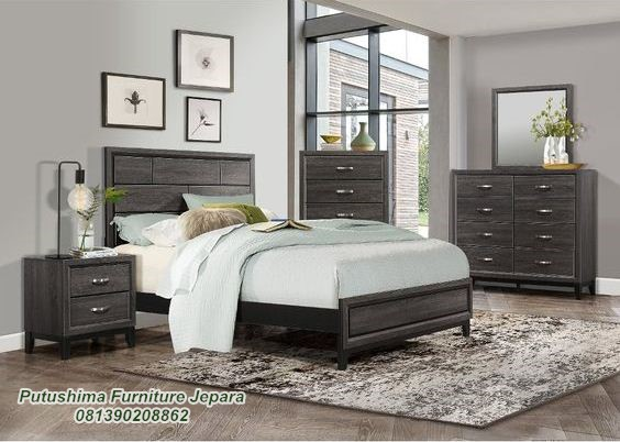 Jual Set Tempat Tidur Minimalis Model Rustic