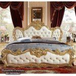 Harga Tempat Tidur Jati Mewah Gold Emas