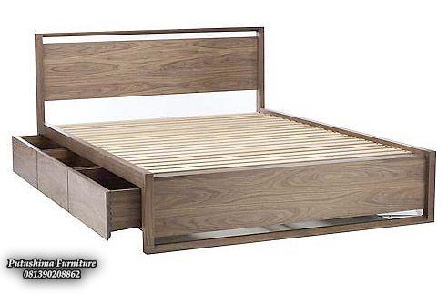 Harga Tempat Tidur Jati Minimalis Laci