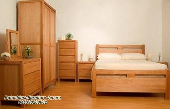 Set Tempat Tidur Kos Asrama Kayu