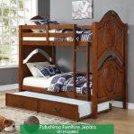 Tempat Tidur Tingkat Jati Klasik