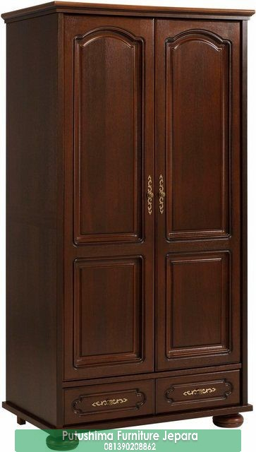 Lemari Pakaian 2 Pintu Jati Minimalis Terbaru