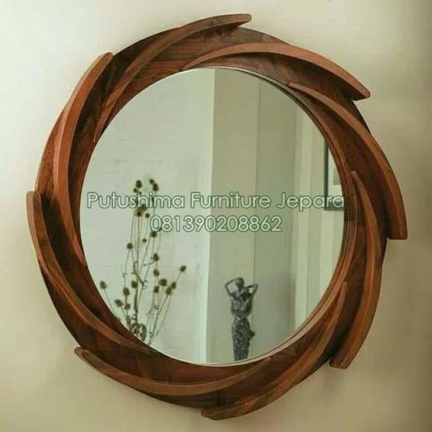 Jual Cermin Bulat Ukir Circle