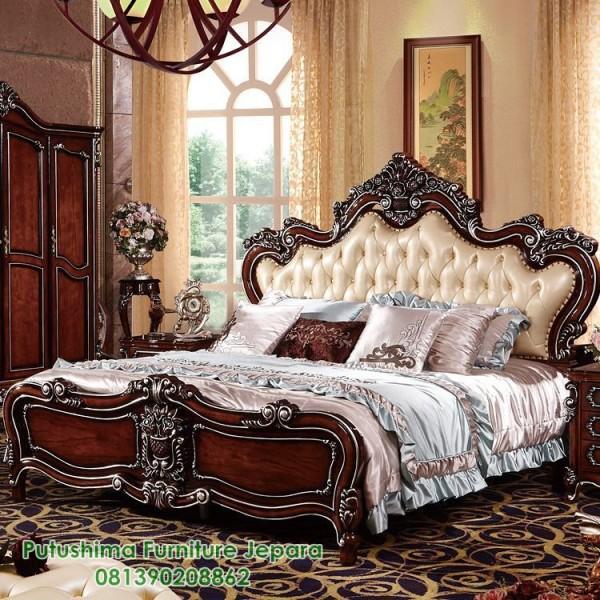 Jual Tempat Tidur Mewah Ukiran Jati